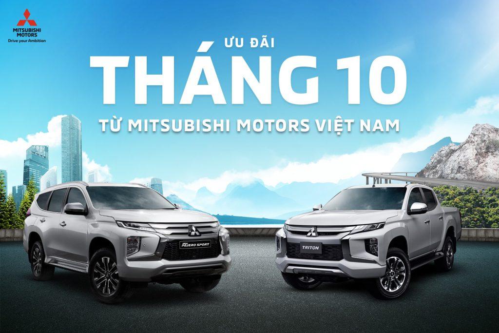 Chương trình ưu đãi tháng 10 khi mua xe Mitsubishi